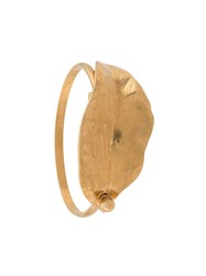 Marni Leaf Bangle Gold