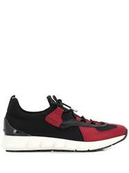 Salvatore Ferragamo Contrast Panel Sneakers Black