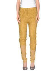 Soho De Luxe Trousers Casual Trousers Women Ocher