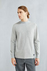Cpo Glenwood Mock Neck Long Sleeve Tee Grey