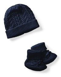 Ralph Lauren Cotton Accessory Set Navy Size Newborn 9 Months