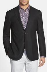 Corneliani Classic Fit Wool Blazer Black