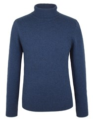 Racing Green Scott Lambswool Polo Neck Knit Blue
