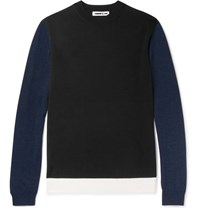 Mcq By Alexander Mcqueen Colour Block Wool Weater Black