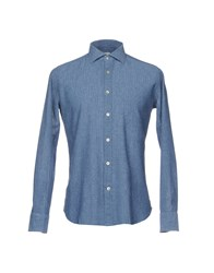 Caliban Shirts Slate Blue