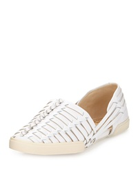 Elliott Lucca Rani Woven Leather Slip On White