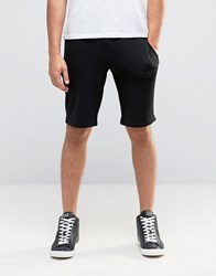 Armani Jeans Sweat Shorts With Logo In Black Black