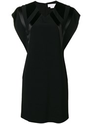 Genny V Neck Mini Dress Black