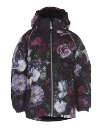 Molo Cathy Hooded Floral Jacket Multicolor