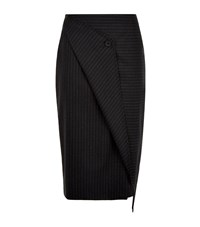 Dkny Pinstripe Pencil Skirt Female Light Grey