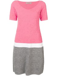 D.Exterior Textured Shift Dress Pink