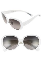 Women's Maui Jim 'Nahiku' 59Mm Polarized Sunglasses White Pearl Neutral Grey