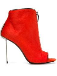 Vic Matie Open Toe Boots Yellow And Orange