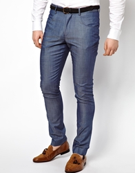 Vito Suit Trousers In Chambray Blue