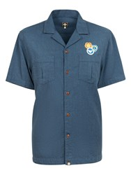 Pretty Green Bardsley Short Sleeve Shirt Blue