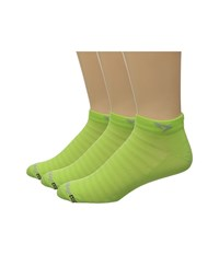 Drymax Sport Hyper Thin Running Mini Crew 3 Pack Sublime Low Cut Socks Shoes Green