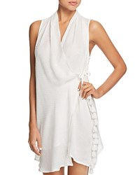 Red Carter Amazon Jungle Wrap Dress Swim Cover Up White