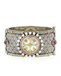 Konstantino Hestia Hinged Wide Bangle Bracelet Multi