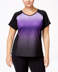 Ideology Plus Size Dip Dyed T Shirt Only At Macy's Night Iris Dip