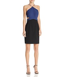 Aqua Color Block Cutout Dress Navy Black