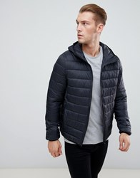 Pier One Padded Jacket In Black With Hood