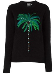 Fausto Puglisi Palm Tree Embroidery Jumper Black