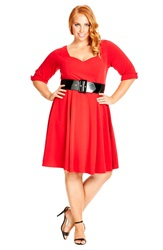 City Chic 'Miss Vintage' Fit And Flare Dress Plus Size Siren