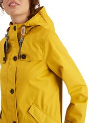 Joules Coastal Waterproof Hooded Coat Antique Gold