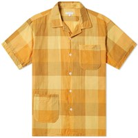 Engineered Garments Short Sleeve Check Camp Shirt Yellow