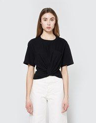 Alexander Wang Front Twist Tee In Black