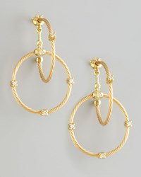 18K Yellow Gold Diamond Link Earrings 28Mm Paul Morelli Yellow Gold