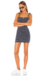 Solid And Striped Shift Dress In Navy. Navy Breton Terry