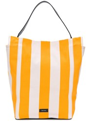 Paul Smith Large Striped Shoulder Bag Yellow And Orange