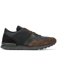 Tod's Contrast Panel Sneakers Brown