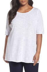 Eileen Fisher Plus Size Women's Organic Linen And Cotton Tunic White