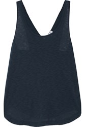 Splendid Crossover Back Slub Supima Cotton And Micro Modal Blend Tank Navy