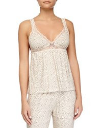 Floral Garland Lace Trim Lounge Camisole Tapenade Eberjey