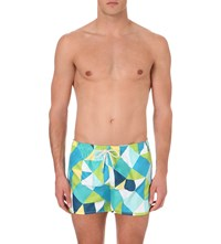 Oiler And Boiler Tuckernuck Shortie Swim Shorts Geometric
