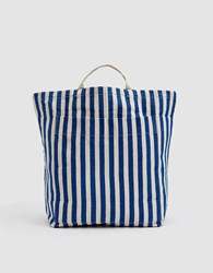 Baggu Giant Pocket Tote In Summer Stripe