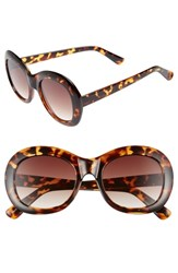 Bp. 60Mm Small Oval Sunglasses Tort Brown Tort Brown