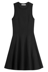 Alexander Wang T By Knit Dress With Pleated Skirt Black