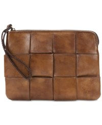 Patricia Nash Woven Cassini Wristlet Brown