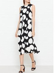 Paul Smith Ps By Polka Dot Sleeveless Dress Black Off White Navy Black