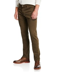 Ag Adriano Goldschmied Tellis Slim Leg Twill Pants Green