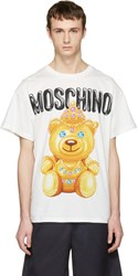 Moschino White Jewel Bear T Shirt