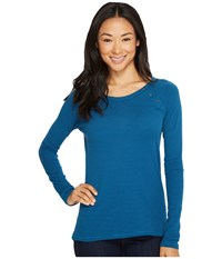 The North Face Long Sleeve Campground Knit Top Egyptian Blue Long Sleeve Pullover