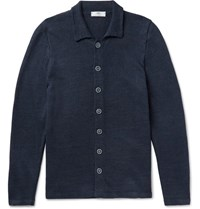Inis Meain Ardee Linen Cardigan Navy
