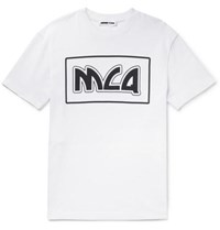 Mcq By Alexander Mcqueen Printed Cotton Jersey T Shirt White