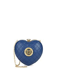 Love Moschino Quilted Heart Minaudiere Blue