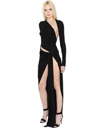 Alexandre Vauthier Asymmetrical Cutout Stretch Crepe Dress